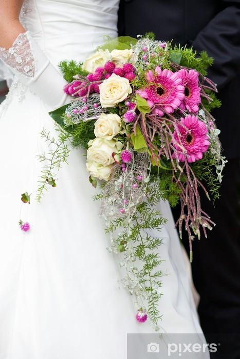 Sposa Con Bouquet.Carta Da Parati Sposa E Sposo Con Bouquet Di Nozze Pixers