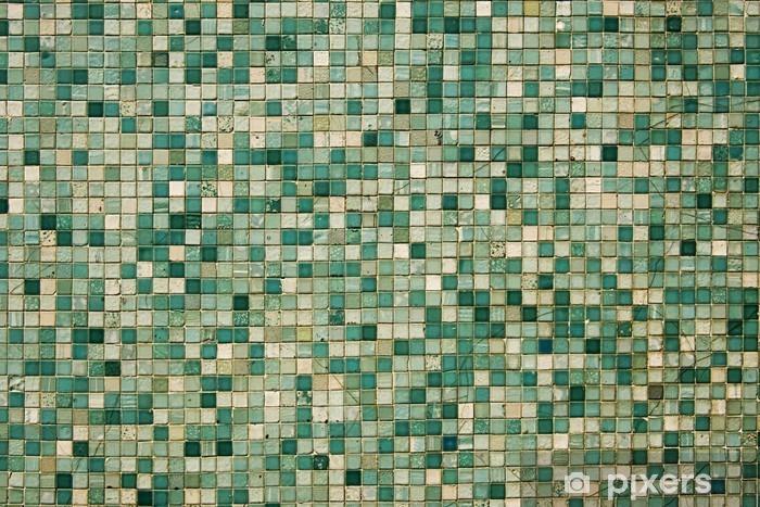 Sticker Pixerstick Petits carreaux de mosaïque verte - Ressources graphiques