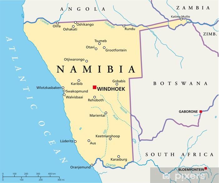 Namibia Map Namibia Landkarte Poster Pixers We Live To Change