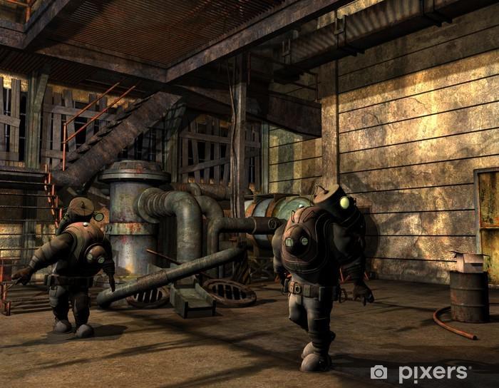 Fototapeta winylowa Mężczyźni Steampunk w ubraniu ochronnym - Steampunk