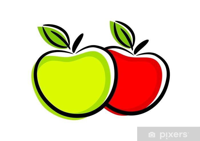 Papier peint vinyle Icône Apple - Fruits