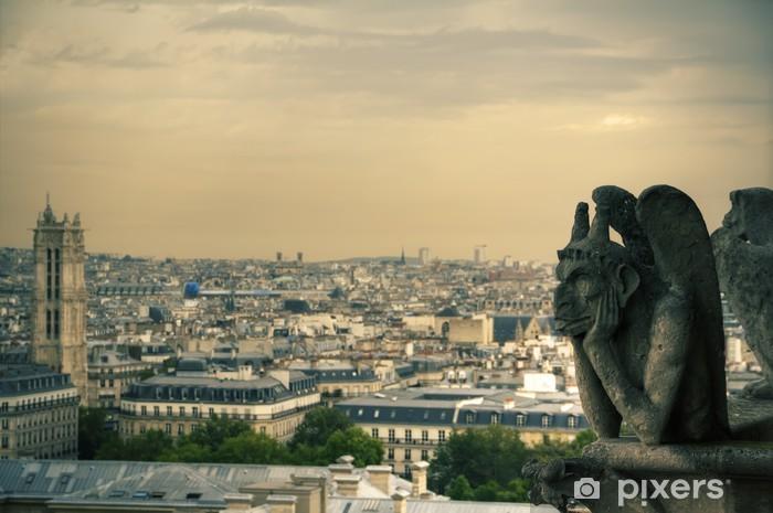 Vinyl-Fototapete Berühmten Notre Dame-Wasserspeier - Europäische Städte
