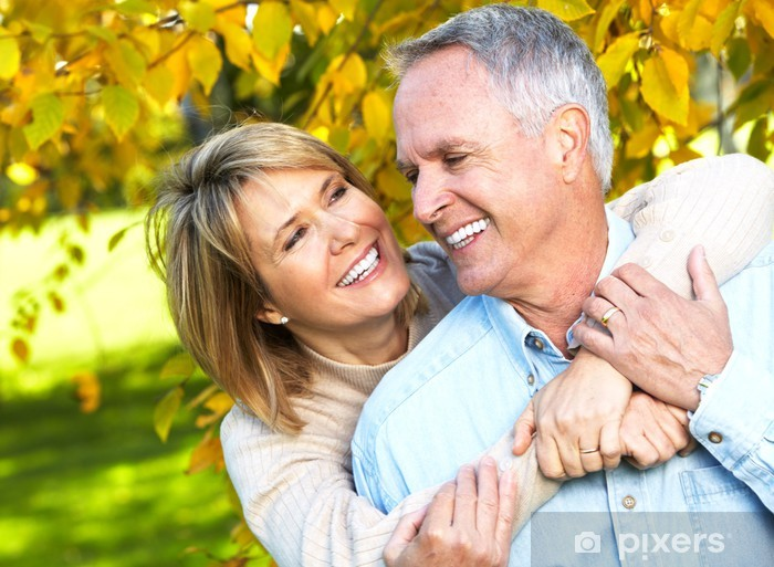 Pixerstick Dekor Lycklig pensionär för par. - Par