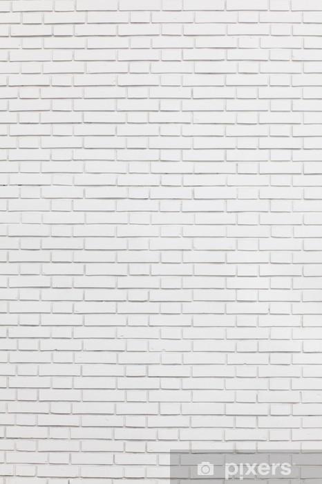 Fototapeta winylowa Biały mur z cegły -