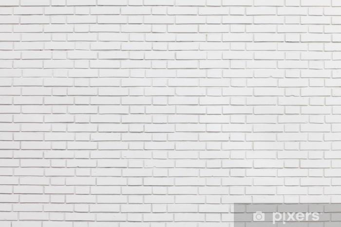 white brick wall Pixerstick Sticker - Themes