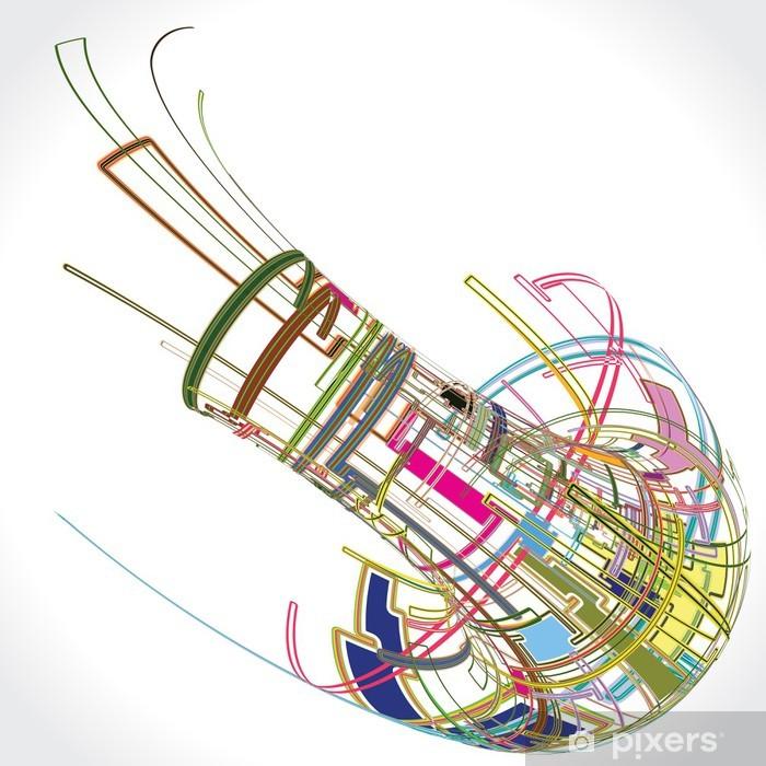 Vinyl Fotobehang Abstracte Achtergrond Vector - Achtergrond