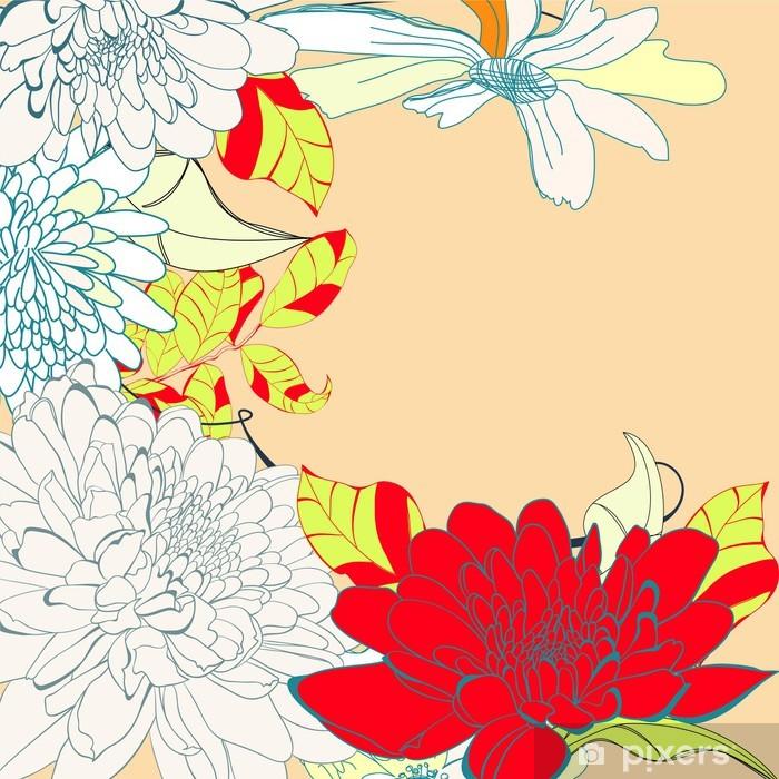 Sticker Pixerstick Gabarit pour carte d'invitation - Arrière plans