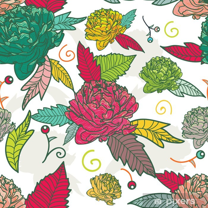 Vinyl-Fototapete Seamless floral Textur - Hintergründe