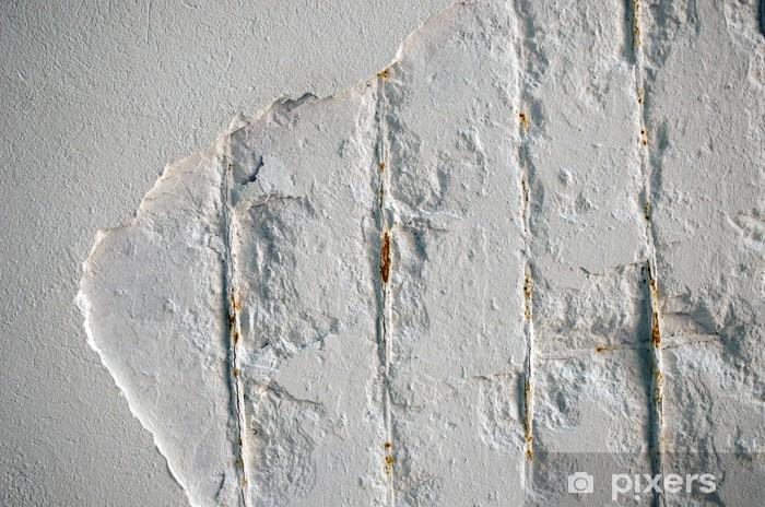 Papier peint vinyle Mur de béton détruit et le renforcement rouillée - Thèmes