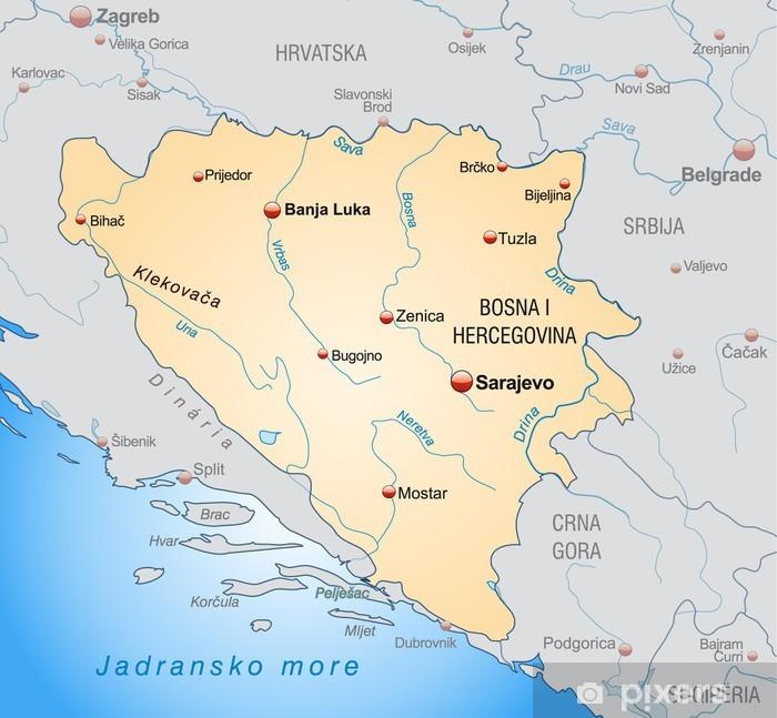Fototapeta winylowa Przegląd Bośni i Hercegowinie oraz w pobliżu - Sprzedaż