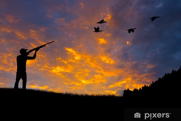 Fotomural Estándar Bird Hunting Silhouette - Deportes de exterior
