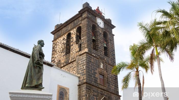 Naklejka Pixerstick Santa Cruz de La Palma Plaza de Espana Kościół - Wakacje