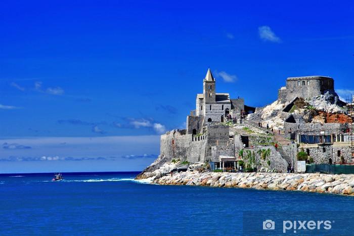Naklejka Pixerstick Wybrzeżu Ligurii we Włoszech - Portovenere, widok ze starego kościoła - Europa