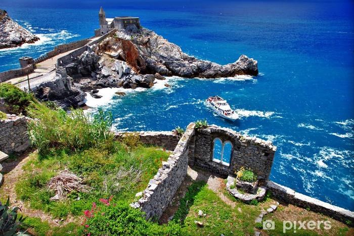 Naklejka Pixerstick Wybrzeżu Ligurii we Włoszech - Portovenere - Europa