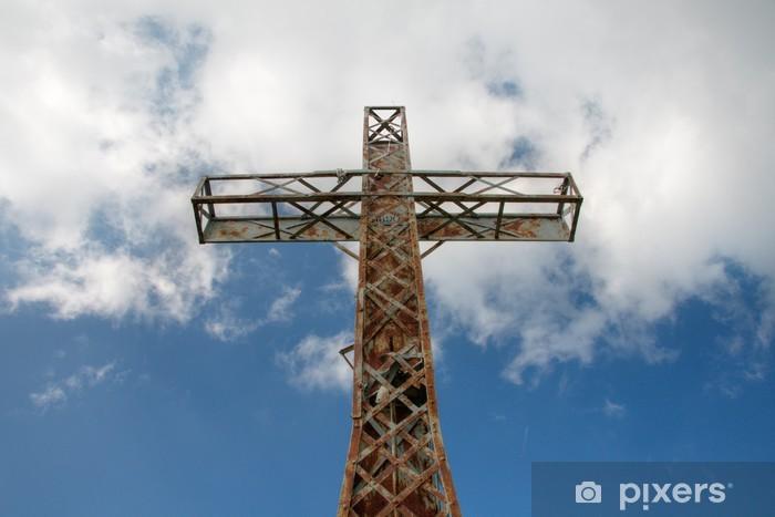 Fototapeta winylowa Gipfelkreuz - Sporty na świeżym powietrzu