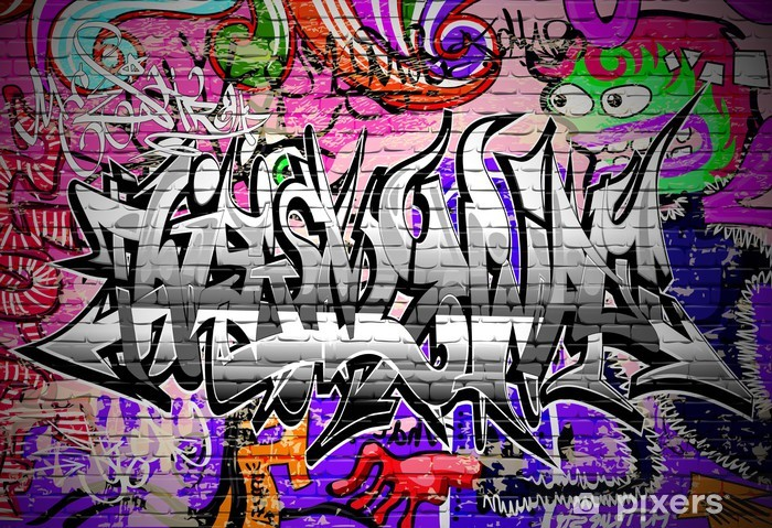 Sticker Pixerstick Graffiti art vecteur. Urban mur avec peinture en aérosol - Thèmes