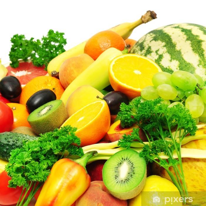 Sticker Pixerstick Collection de fruits et légumes - Fruits