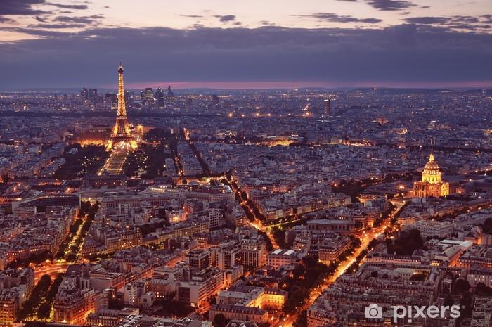 Naklejka Pixerstick Wgląd nocy Paryżu. -