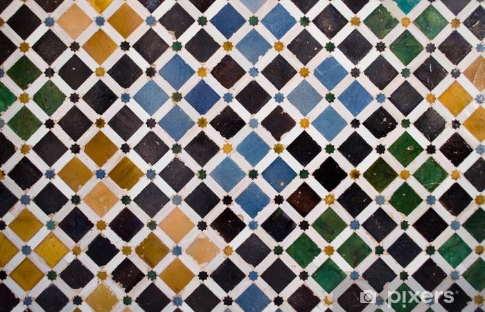 Sticker Pixerstick Les carreaux colorés, style arabe, à l'Alhambra, Grenade - Art et création