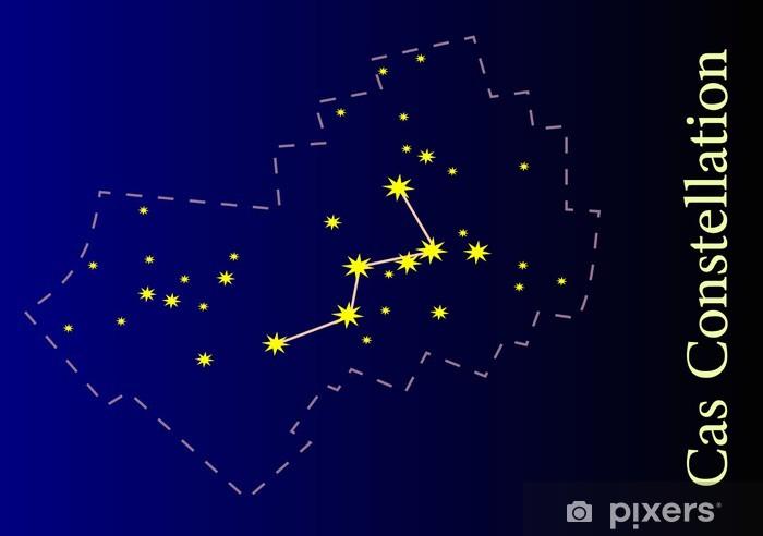 Naklejka Pixerstick Ilustracja Cassiopeia Constellation - Przestrzeń kosmiczna