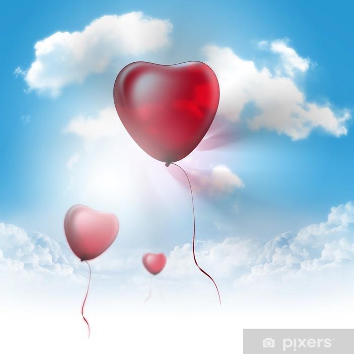 Plakat Serca balony - Szczęście