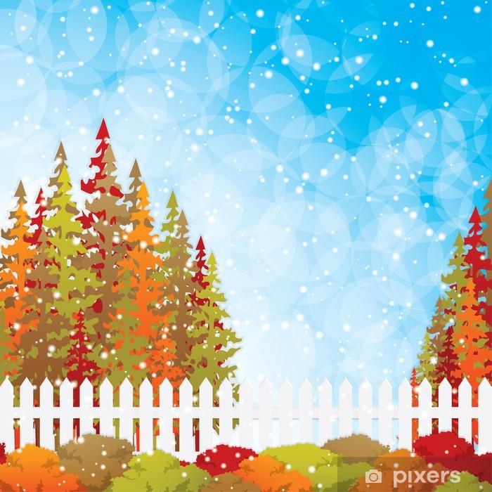 Vinyl-Fototapete Herbst Garten - Jahreszeiten