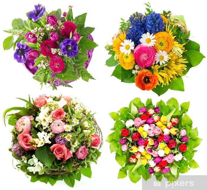 Güzel Renkli Taze çiçekler Buket Duvar Resmi Pixers Haydi
