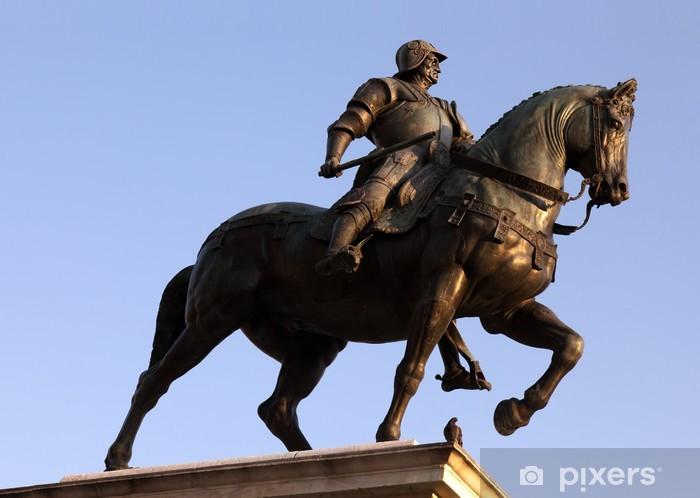 Papier peint vinyle Statue de Bartolomeo Colleoni à Venise - Monuments