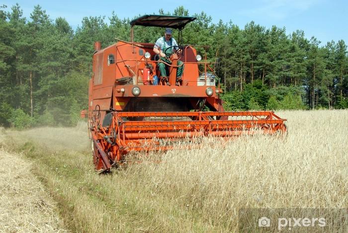Sticker Pixerstick Moissonneuse-batteuse - Agriculture