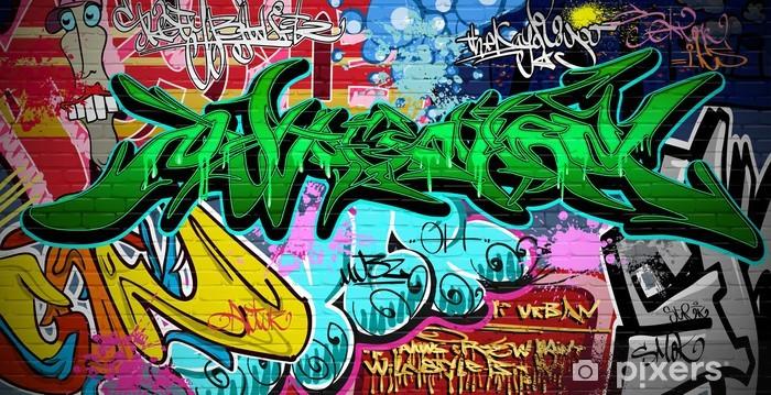 Sticker Pixerstick Contexte Vector Graffiti Art. Urban mur - Thèmes