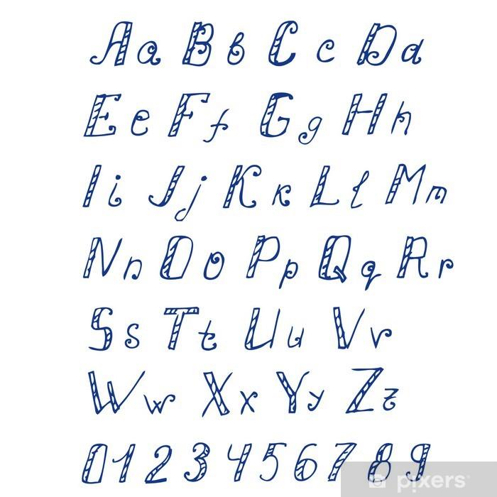 El Yazısı Mürekkep Alfabe çıkartması Pixerstick Pixers Haydi