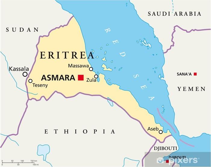 Fototapet Eritrea Karta Eritrea Landkarte Pixers Vi Lever