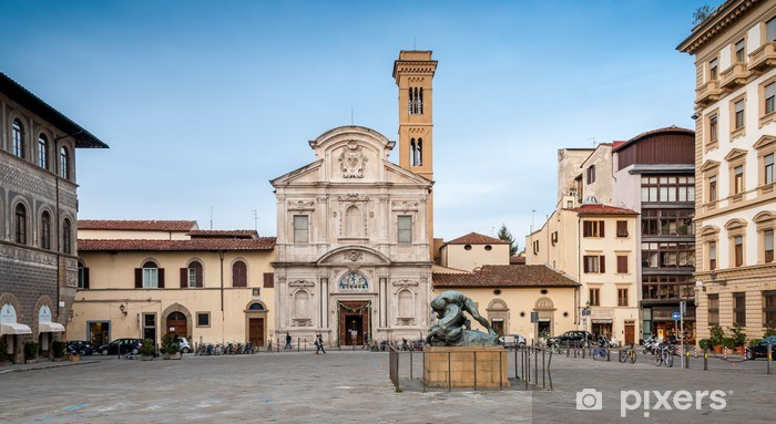 Vinyl-Fototapete Piazza Ognissanti à Florence - Urlaub