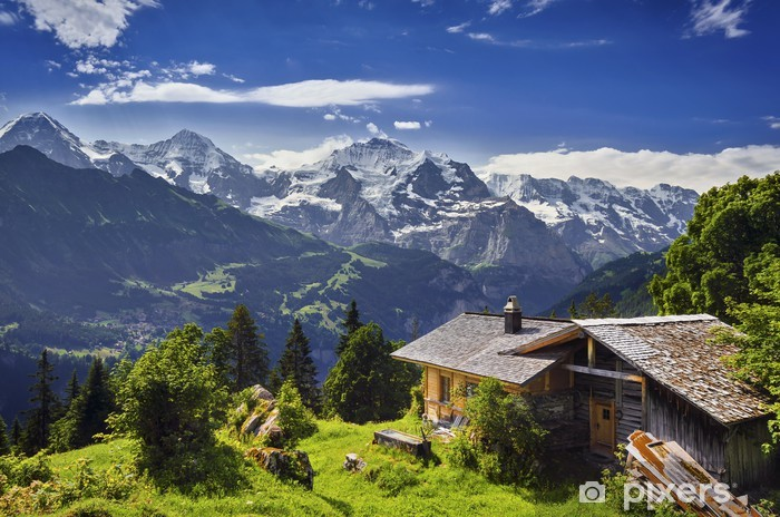 Afwasbaar Fotobehang Sulwald, Zwitserland - Buitensport