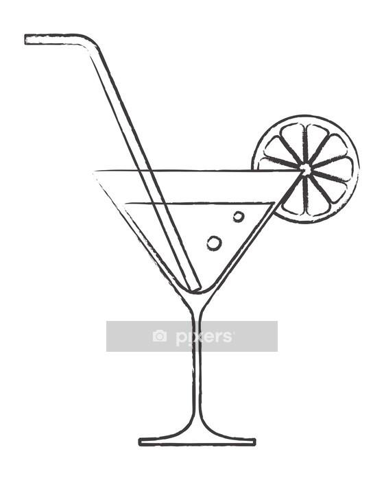 Wandtattoo Cocktail Glas Mit Zitrone Und Strohhalm Pixers Wir