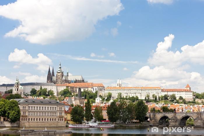 Nálepka Pixerstick Hradčany s Karlovým mostem, Praha, Česká republika - Evropská města