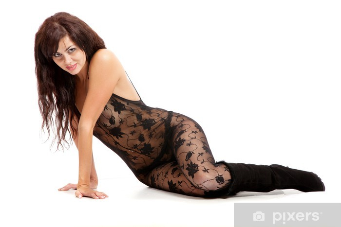 Nálepka Pixerstick Krásná žena nosí sexy oblečení - Žena