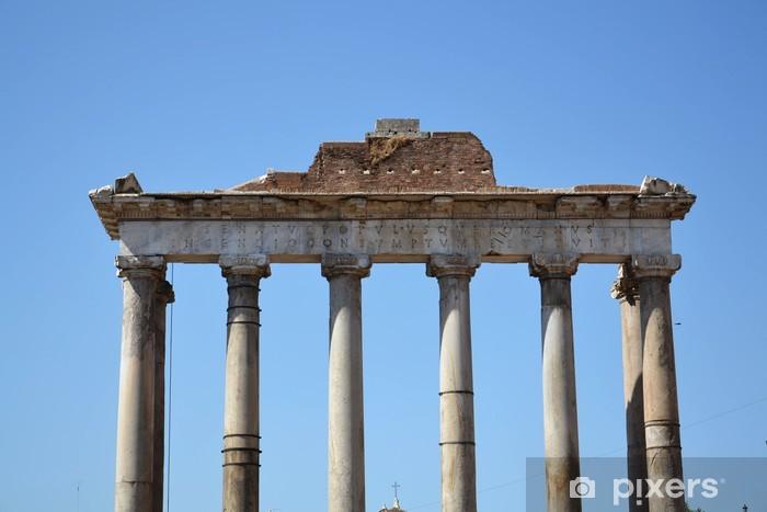 Sticker Pixerstick Colonnes ioniques dans le Forum Romanum - Thèmes