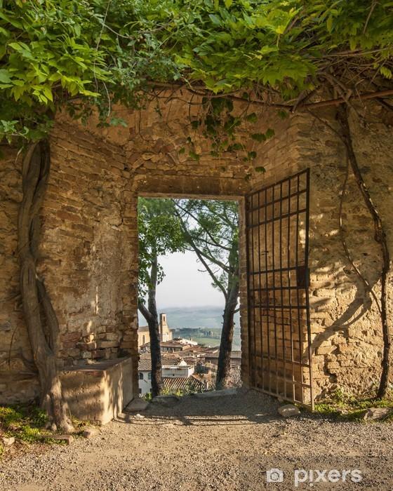 Sticker Pixerstick Gate à San Gimignano - Thèmes