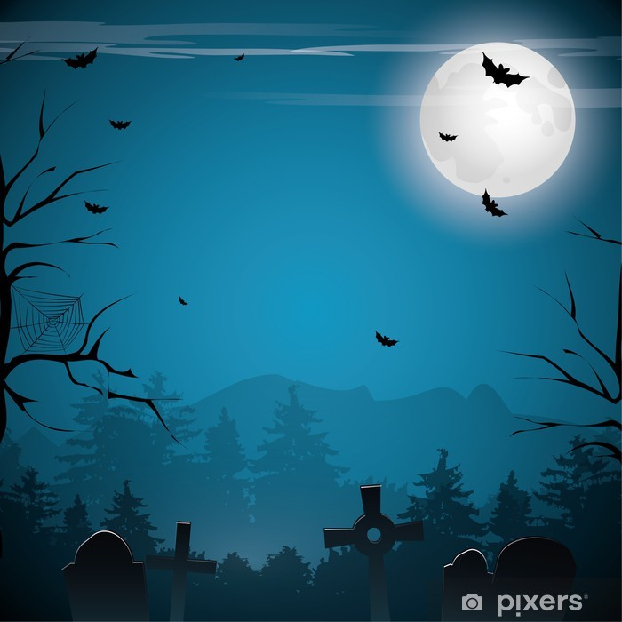 Scary Halloween Background Wall Mural Pixers 174 We Live