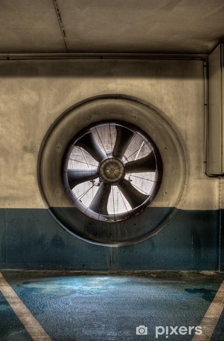 Papier peint vinyle Bouche d'aération dans un parking souterrain - Ecologie