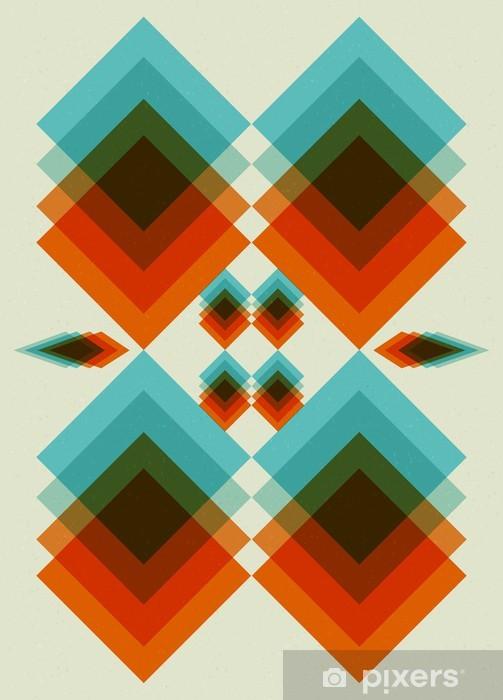 Retro Pattern. Book Cover. Background Design Pixerstick Sticker    Backgrounds