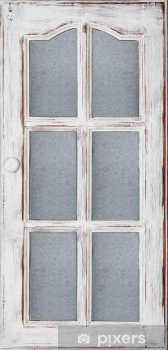 Naklejka Pixerstick Stare białe drzwi - Dom i ogród