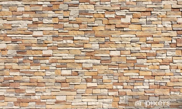 Stacked stone wall Pixerstick Sticker - Styles