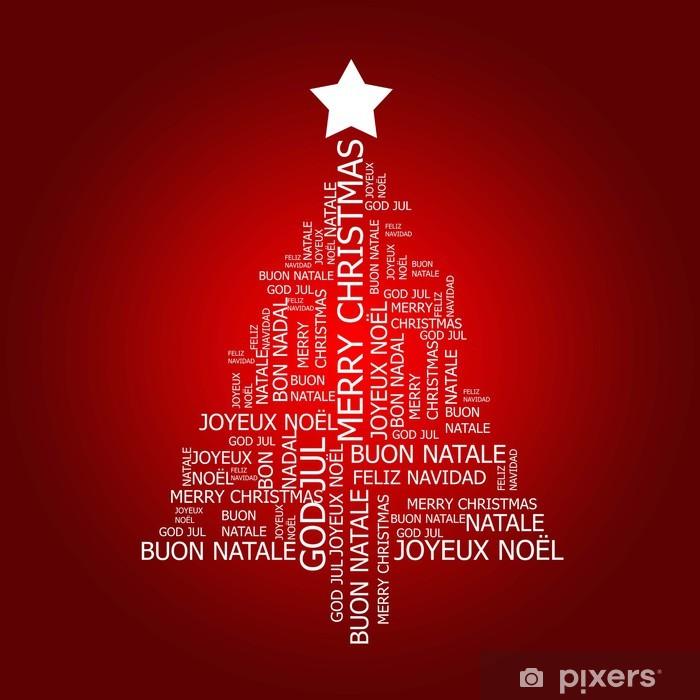 Nálepka Pixerstick Vánoční přání pozdrav Multilingual - Mezinárodní svátky