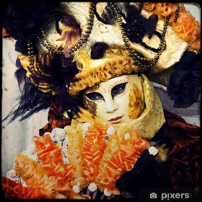 Vinilo Pixerstick Máscara - Carnaval de Venecia - Ciudades europeas