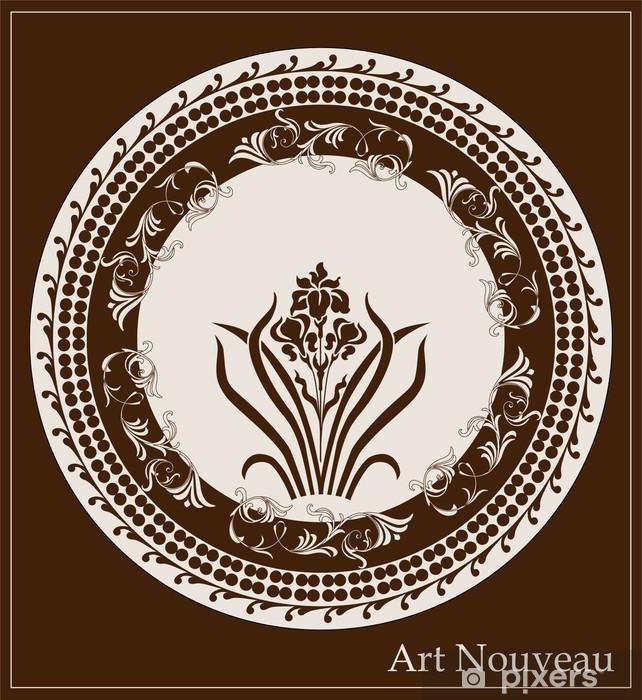 Papier peint vinyle Art design nouveau avec la fleur d'iris - Art et création