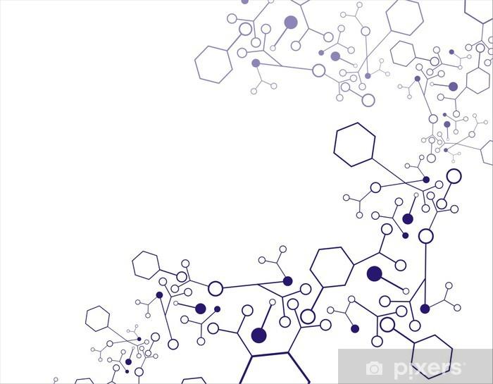Vinylová fototapeta Molekula pozadí - Vinylová fototapeta