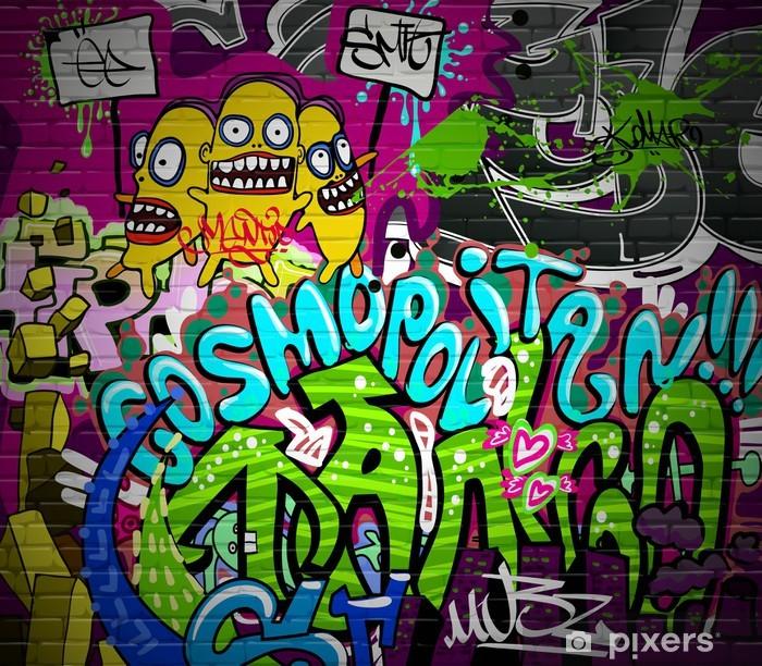 Graffiti wall urban art background. Grunge hip hop design Vinyl Wall Mural - Themes