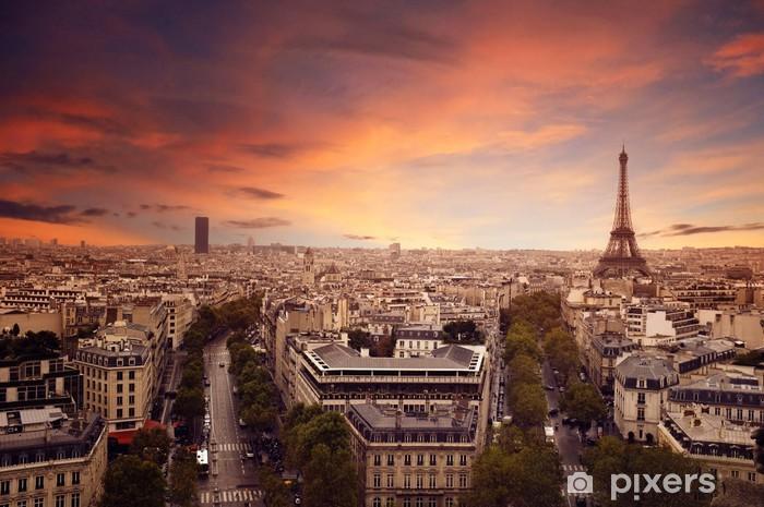 Vinil Duvar Resmi Paris -